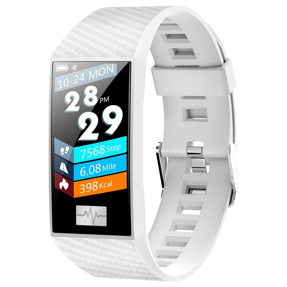 696 pulsera inteligente DT58 rastreador de fitness 1,14 pulgadas pantalla a color PPG tecnología de medición de altitud banda impermeable del tiempo