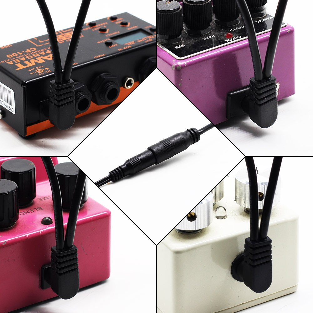9V DC 1A Power Adapter w/h 5-Way Right-Angle Plug Daisy Chain Power Cable for Guitar Pedal and Other 9V Electronic Device QAC-01 enlarge