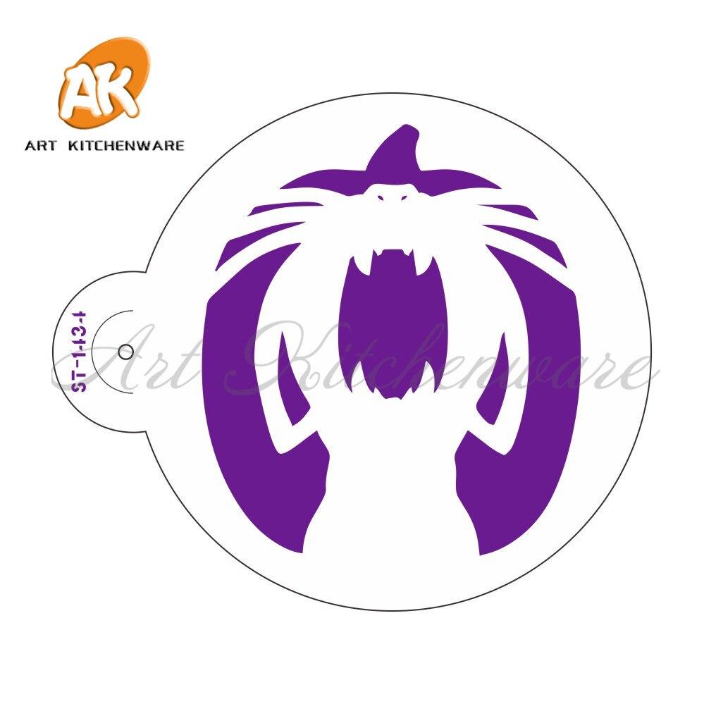 Padrão Halloween Arte Bolo Stencils Fondant decoração Ferramentas de Design Bolo Biscoitos Estêncil Perfeito Stencil modelo de Peles ST-1434