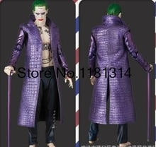 Drop verschiffen Jared Leto Joker Kostüm Selbstmord Squad Halloween Cosplay Kostüm Mantel Leder lila mantel
