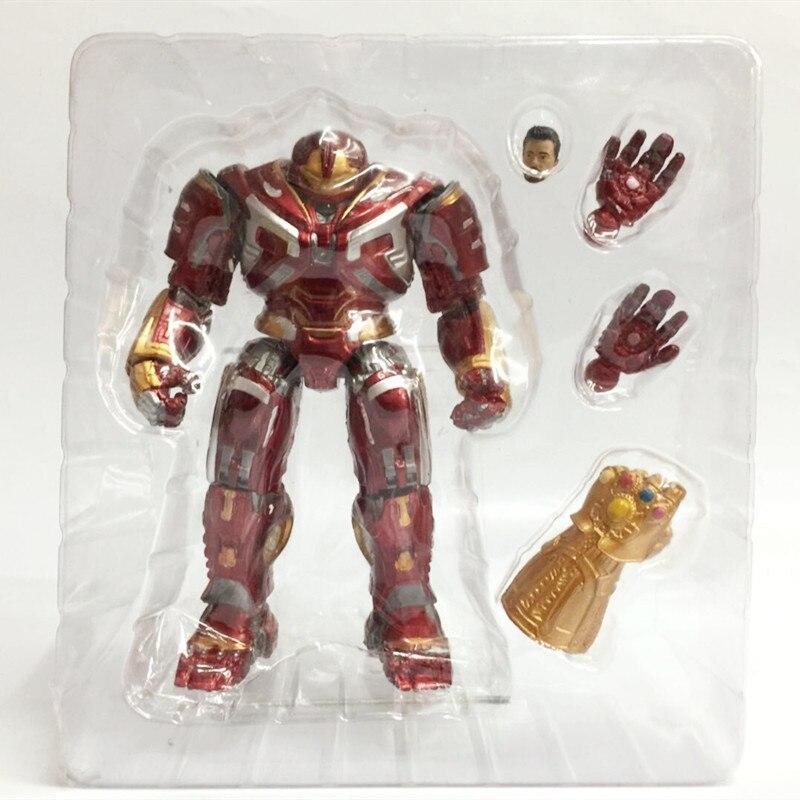 18cm vengadores final hulkbuster de Iron Man guantelete del infinito figura de acción juguetes muñeca de Navidad con caja de regalo