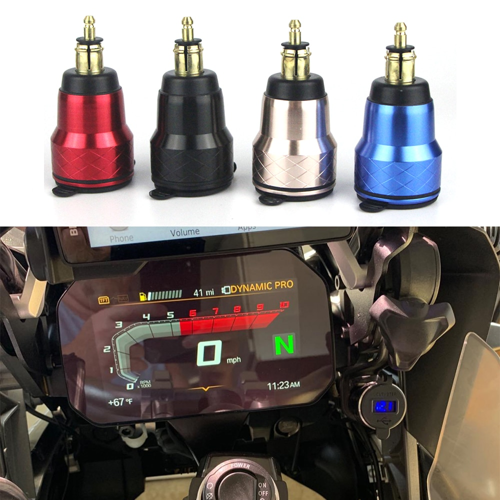 Для BMW F800GS R1250GSA R1200GS QC 3,0 двойной USB Водонепроницаемый Мотоцикл Зарядное устройство розетка прикуриватель адаптер светодиодный дисплей