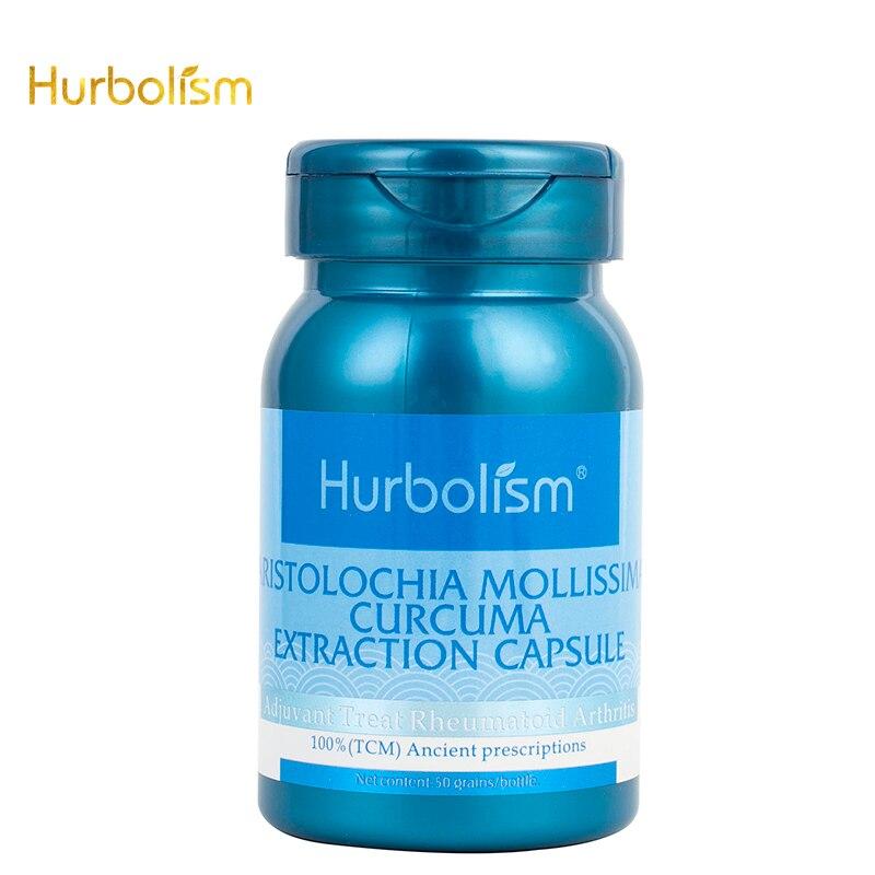 Hurbolisme Aristolochia Mollissima Capsule dextraction de Curcuma, traitement Adjuvant de la polyarthrite rhumatoïde, extrait de plantes, 50pcs.