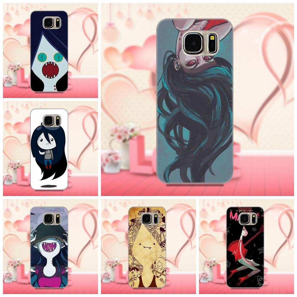 Oedmeb Marceline tiempo de aventura de dibujos animados delgada de TPU celular para Samsung Galaxy A3 A5 A7 J1 J3 J5 J7 2016 2017 S5 S6 S7 S8 S9 edge Plus