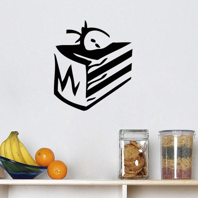 ZOOYOO Sweet Strawberry Cake Wall Sticker Home Decor Kitchen Restaurant Wall Art Murals Kids Room Decoration