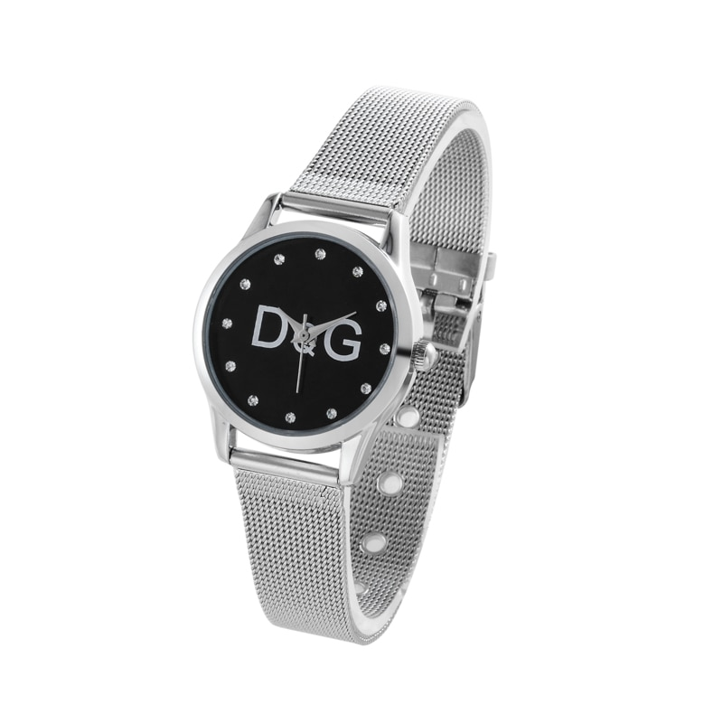 Reloj Mujer New Famous Brand Bear Metal Mesh Stainless Casual Quartz Watch Kobiet Zegarka Women Crys