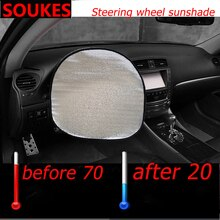 Car UV Protection Sunshade Steering Wheel Cover For Hyundai I30 IX35 IX25 Suzuki Lifan X60 Renault Mitsubishi ASX Jeep Acura