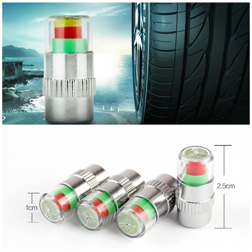 4Pcs/lot Car 2.4 Bar 32PSI Tire Pressure Indicator Gauge Valve Stem Caps Sensor Eye Air Alert Tire Pressure Monitoring Tool Kits
