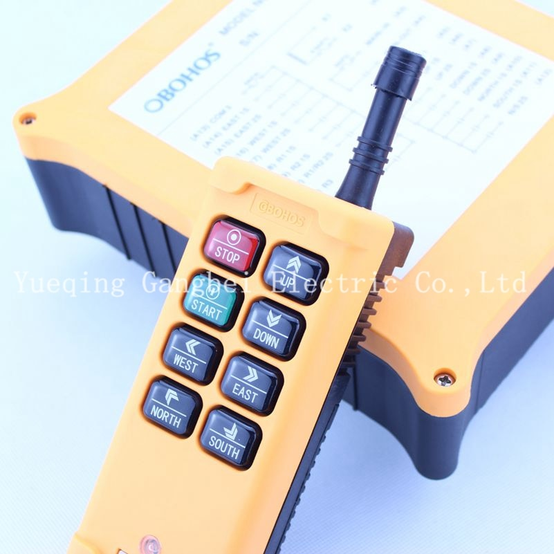 HS-8D6 مزدوجة سرعة رافعة كرين التحكم عن بعد لاسلكية راديو Uting التحكم عن بعد 380VAC 220VAC 36VAC 12VDC-24VDC