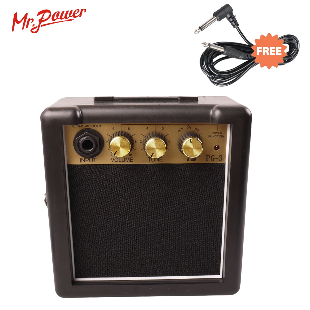 Mini Amplificador de Guitarra eléctrica portátil, altavoz de 3W, AMI