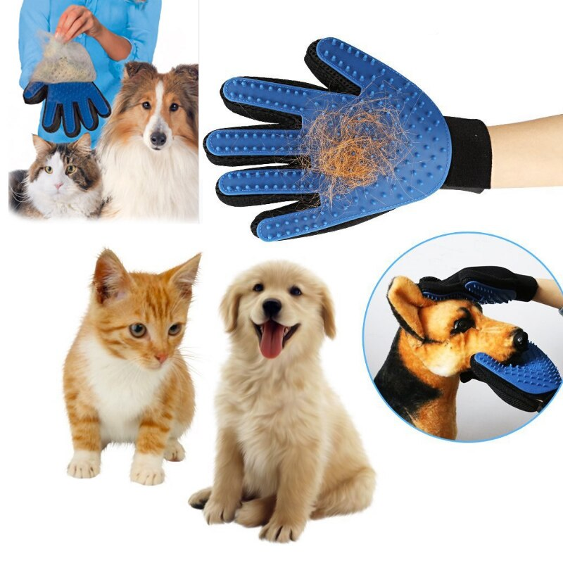 Guantes de gato peine de pelo de perro peine cepillo para mascotas suministros de depilación artefacto gato limpiador de pelo de gato guantes de masaje de baño universal