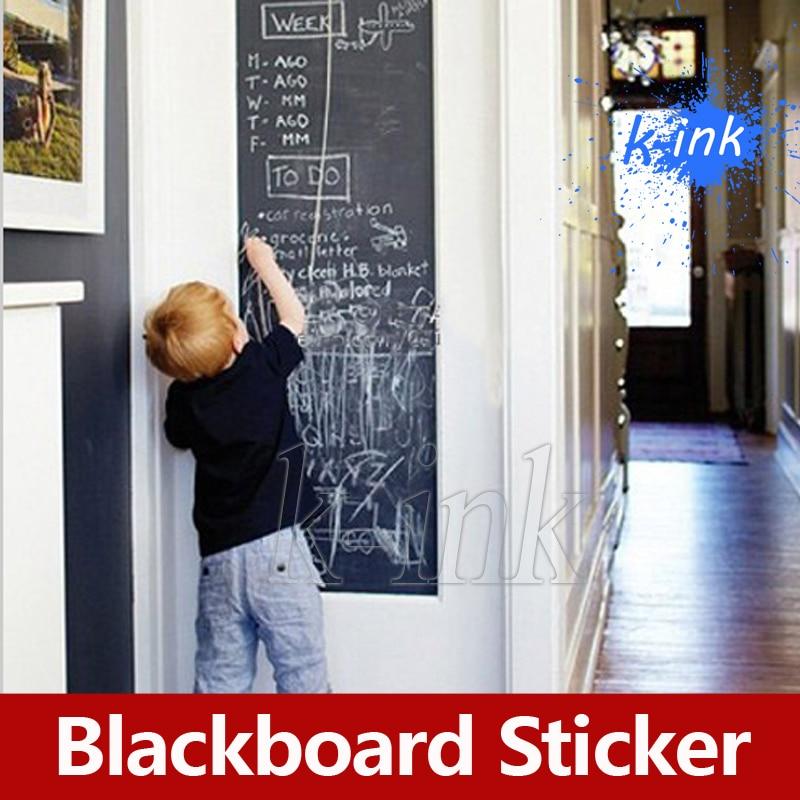 Autocollant amovible en vinyle pour tableau noir, autocollant mural en vinyle pour peinture pour enfants/décoration de la maison