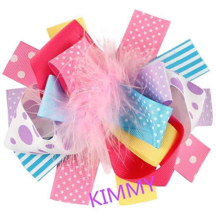 شحن مجاني 50 قطعة/الوحدة عيد ميلاد حزب الشعر القوس. ربطة رأس بفيونكة كبيرة. مخصص كوتور