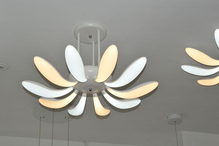 Modern pendant lights for living room dining room 4/3/2/1 Circle Rings acrylic aluminum body LED ceiling Lamp