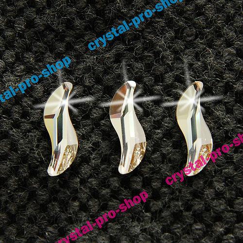 2788 GENUINE Swarovski Elements 8 mm Clear ( 001 ) Wave Flatback 36 pcs Iron on Crystal Glass Craft Hotfix rhinestones