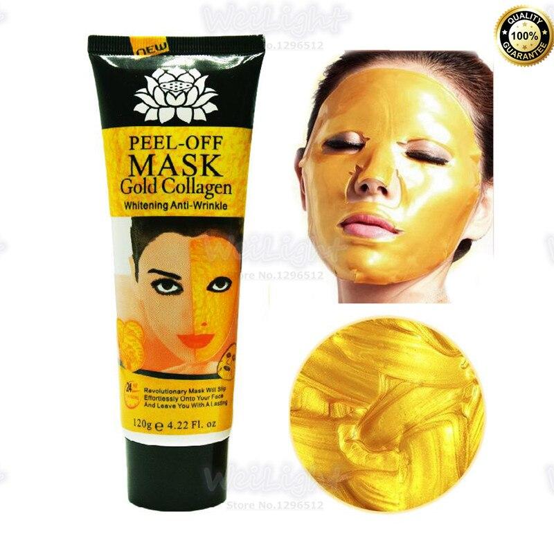 Золотая маска для лица с коллагеном, против морщин, Антивозрастная маска для ухода за кожей лица, подтяжка лица, укрепляющая, 120 г/бутылка, 24 к