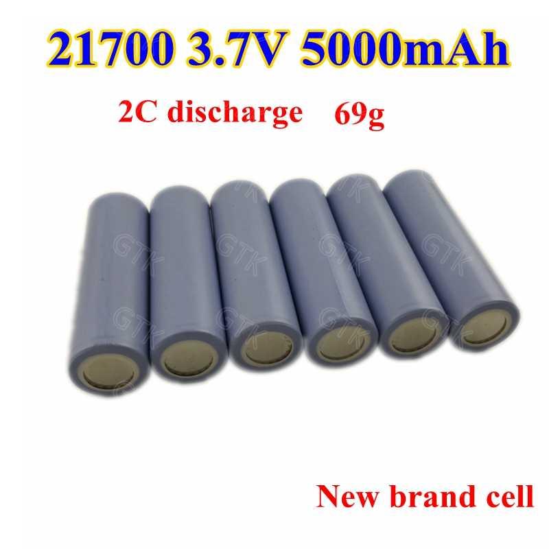 3pcs new brand 21700 cylinder 3.7v 5000mAh lithium ion battery 3.7v 5ah li-ion cells for 12v electric bike power tools diy