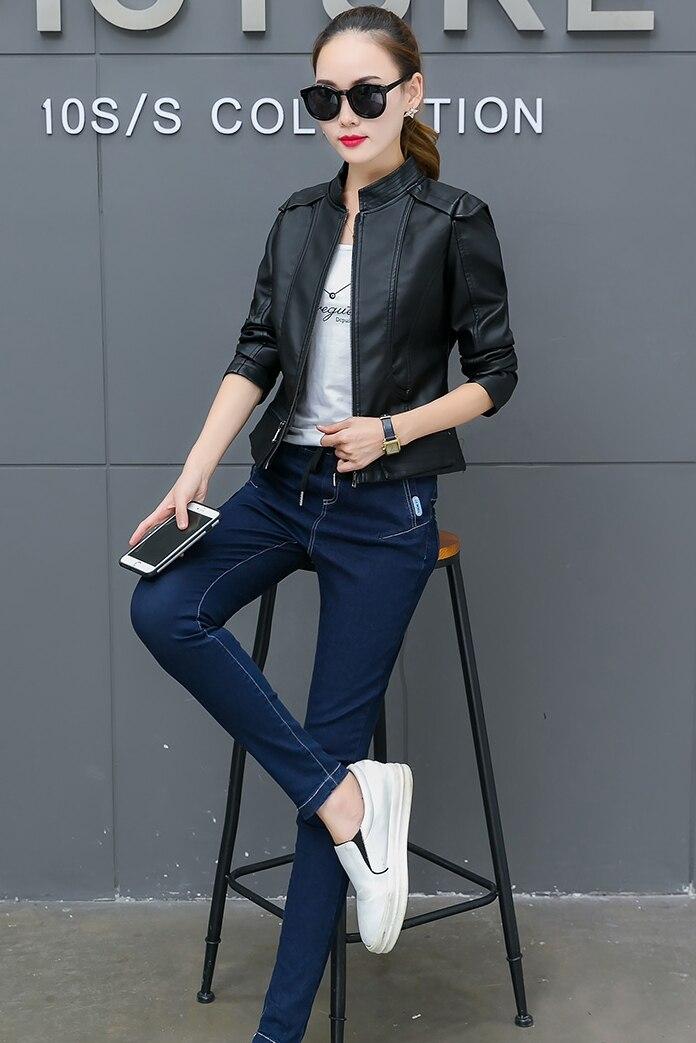 Plus Size M-4XL Fashion 2019 Autumn Winter Women Leather Coat Female Slim Short Button Leather Jacket Women's Outerwear bs8502 enlarge