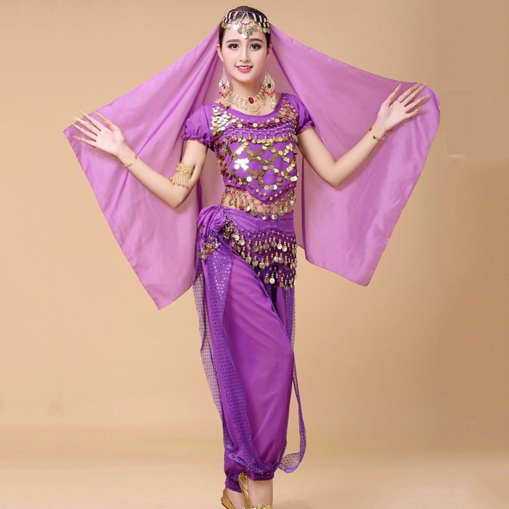 Trajes de danza del vientre recién llegados para señora Rumba Beauty Color Origin Tops + pantalón traje mujeres India Ropa de baile mostrar prendas Q3086