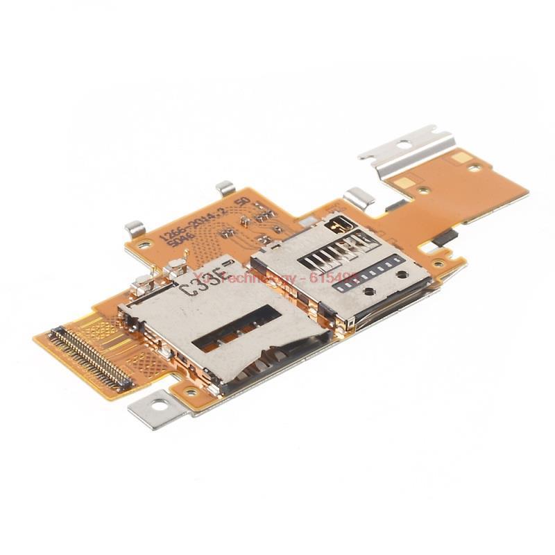 OEM tarjeta SIM y lector de tarjetas SD Cable flexible de contacto para Sony Xperia Tablet Z