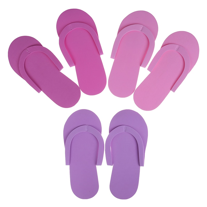 Sandalias de espuma para pedicura, 12 pares de Chanclas de alta calidad para salón de Spa y pedicura, sandalias desechables para Spa y pedicura, pantuflas de espuma