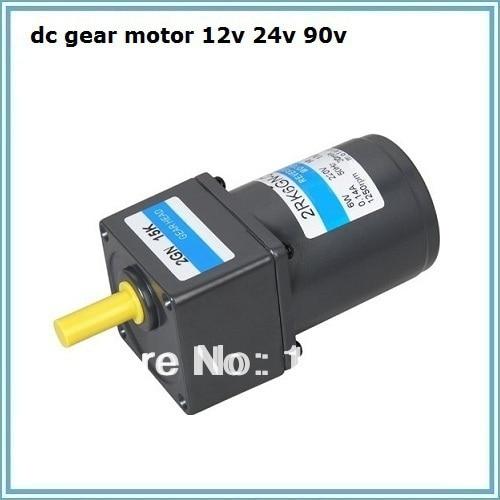 Motor de engranajes 24 v dc 12 v 90 v