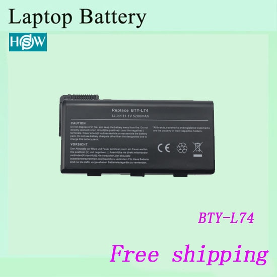 Batería portátil para MSI CX620 A6205 CX500 CR630 CX623 BTY-L74 BTY-L75 portátil