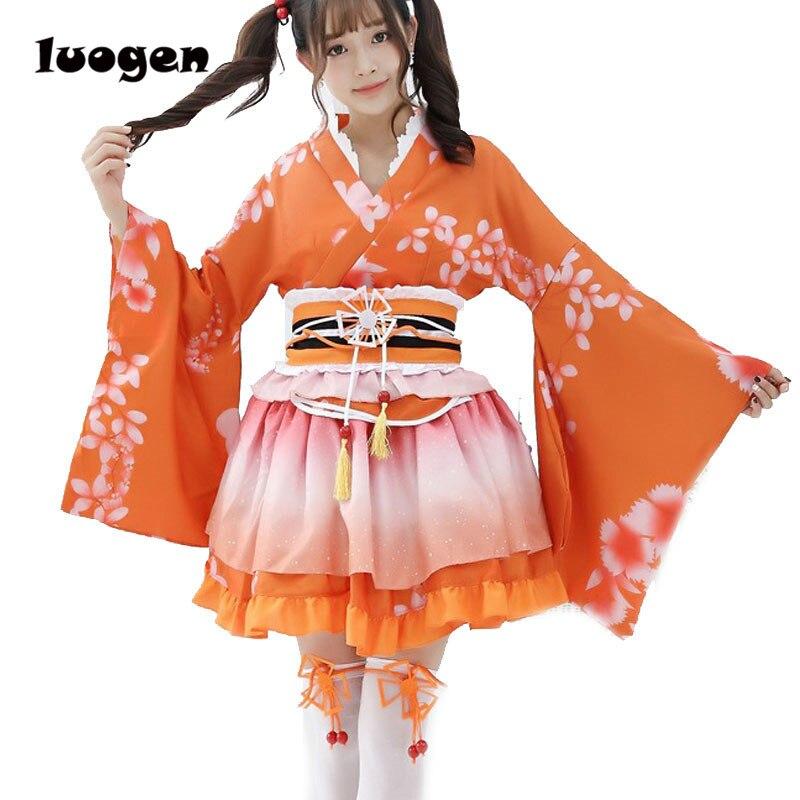 Honoka Kousaka Cosplay amor. Lovelive School Idol Project Kimono Anime verano Yukata vestido niñas mujeres traje