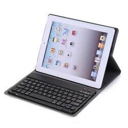 Landas Универсальный Беспроводной Bluetooth 3,0 клавиатура для iPad 2 3 планшеты кожаный чехол для iPad 4 Клавиатура чехол Крышка для планшета A1458