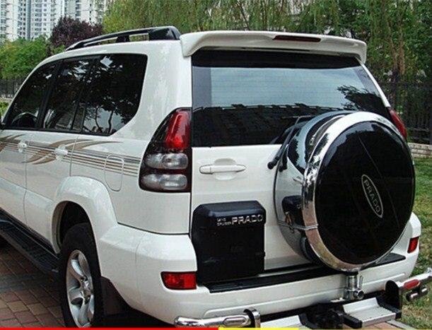 Para toyota prado fj120 2700 spoiler abs material asa traseira do carro primer cor spoiler fj120 4000 spoiler 2003-2009