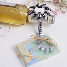 Ouvre-bouteille de bière en forme darbre   Livraison gratuite 100 pièces, vin en forme darbre de coco, cadeau pour invités de mariage, fourniture de mariage