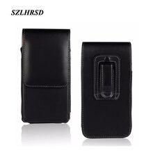 SZLHRSD ceinture Clip PU cuir taille titulaire Flip pochette pour Xiaomi Redmi S2 Doogee BL9000 HomTom S99 Wieppo S8