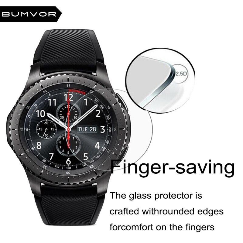 BUMVOR accesorios de artículos deportivos Protector de pantalla para Samsung Gear S3 clásico/frontera pantalla ultra delgada Protector gota envío