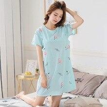 Pyjama dété imprimé cerise pour femme   Tenue de nuit dallaitement avec lettres, pyjama de maternité et oiseau de grossesse décontracté