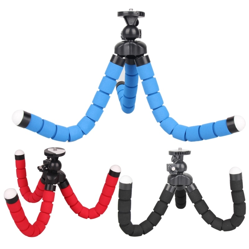 Profesional Mini Octopus Flexible Universal carga máxima 1KG cámara Digital DV trípode titular Stand 1/4-inch-20 Tornillo de montaje
