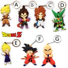 Anime Dragon Ball singe porte-clés fils Goku Super Saiyan Silicone PVC porte-clés figurine daction pendentif porte-clés Collection jouet ZKDBF