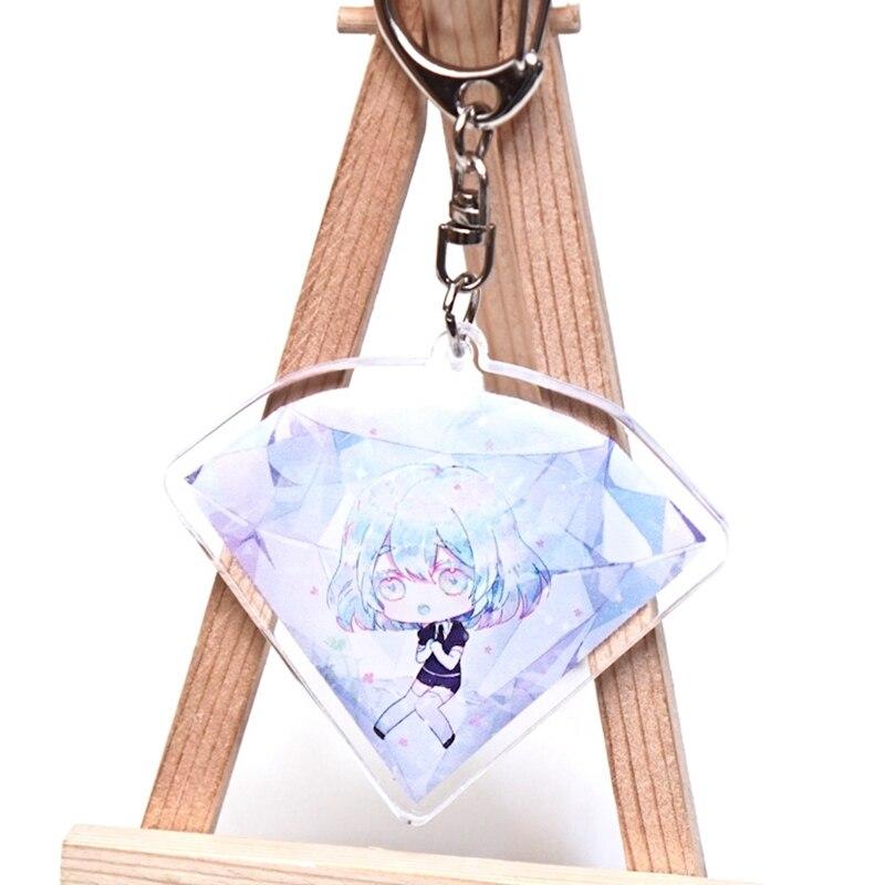 Anime Houseki No Kuni Phosphophyllite Cinnabar Pendant Keychain Keyring Key Rings New double sided Key Chains