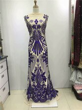 2019 de alta qualidade Francesa Nigeriano lantejoulas renda líquida, tule de malha seqüência africano laço de tecido para o vestido de festa 5 10yards/lot ouro preto