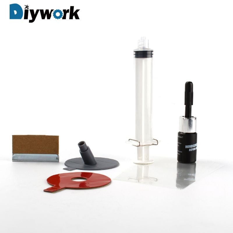 DIYWORK אוטומטי רכב זכוכית שמשה קדמית שמשות שבב סדק DIY תיקון ערכת כלים
