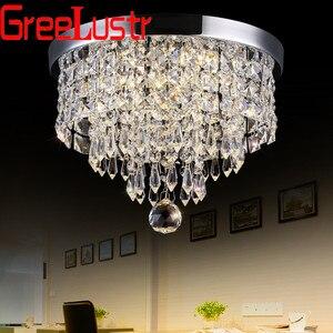 Modern Circlar LED Ceiling Light Fixtures Surface Mounted Crystal Ceiling Lamps Pladfond Abajur Led Lustres Avize 110V -220V