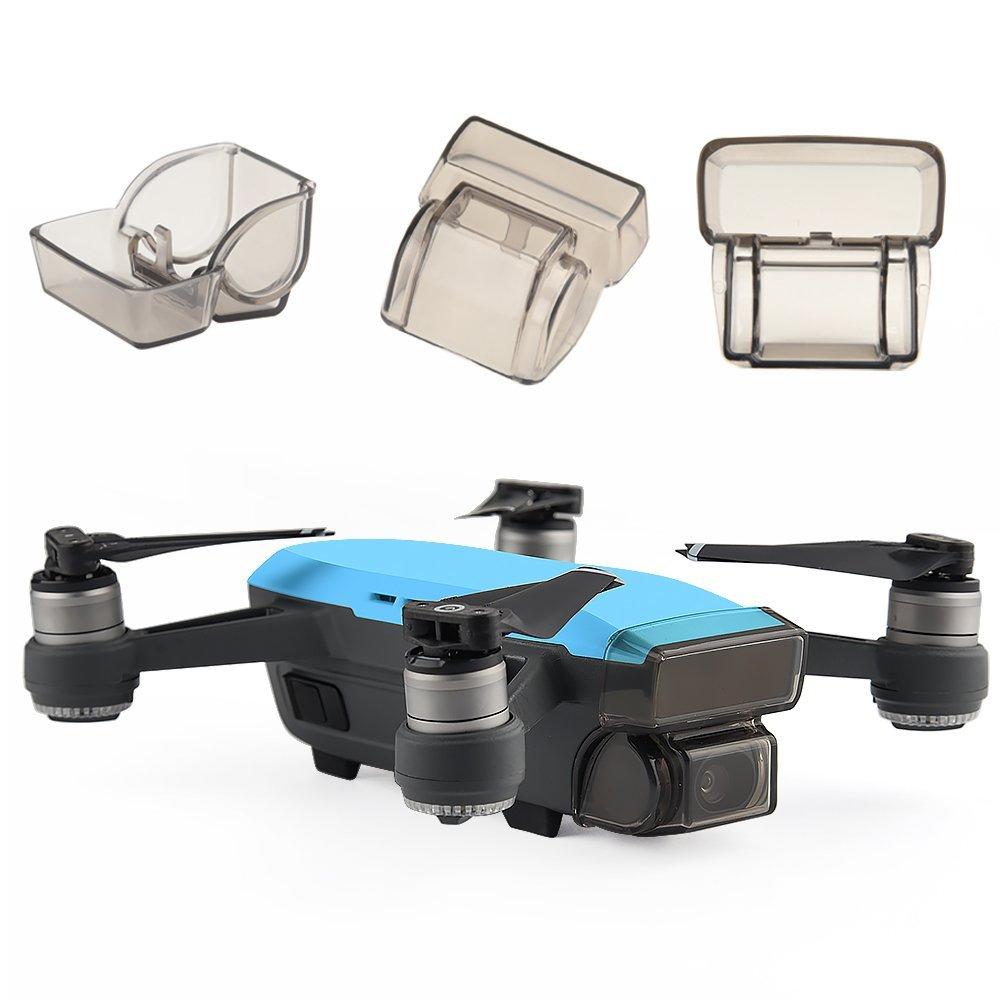 50 Uds DJI Spark cardán Protector de cámara tapa de objetivo frontal 3D Sensor sistema pantalla cubierta Drone accesorio