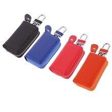 Women Keychain Covers Zipper Key Case Bag PU Leather Car Key Wallets Key Holder Housekeeper Keys Org