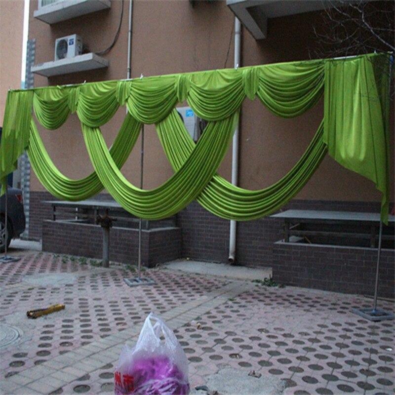 6 meter länge hochzeit hintergrund vorhang swag party dekoration eis seide stoff bühne hintergrund drapieren vorhang hintergrund girlanden
