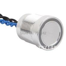 Cor prata alumínio anodizado piezo ELEWIND interruptor de pressão (16mm, PS165P10YNT1B24, Rohs, CE)
