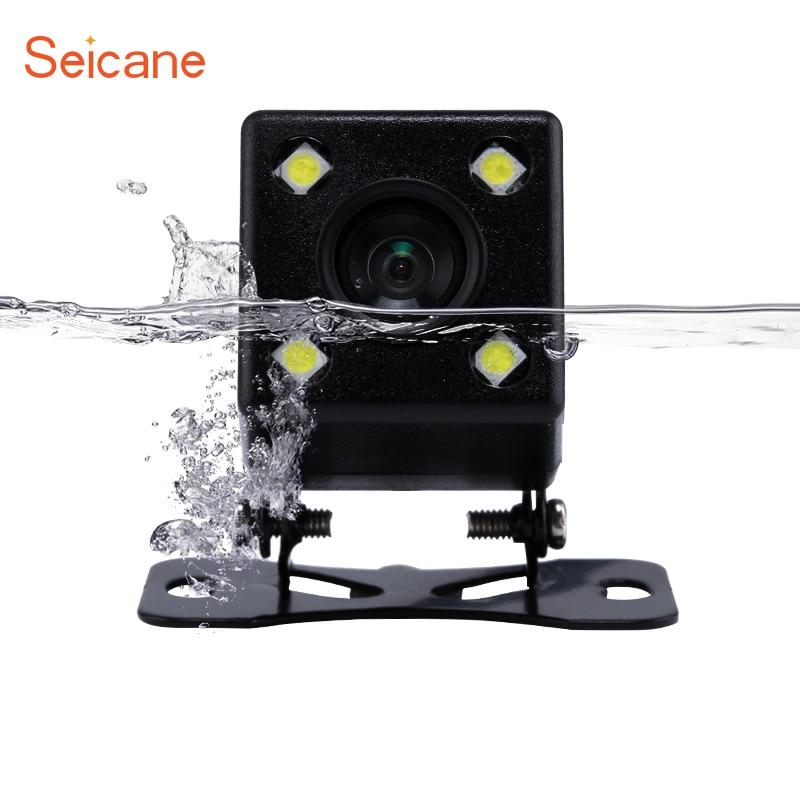 Seicane 170 Graden Groothoek Universele Auto Achteruitrijcamera 4 LED Parking Reverse Backup Camera HD Vision