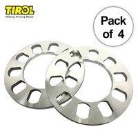 TIROL T12849c 4pcs Universal Wheel Spacer 5 hole 8mm Aluminum Wheel adapter fit 5 lug 5X114.3 5X120 5X120.7 5X127 FREESHIPPING
