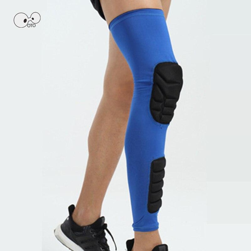 2 uds la rodilla de fútbol brace pierna manga rodilleras de baloncesto Protector de la rodilla de apoyo de esquí, Snowboard, rodillera seguridad deportiva