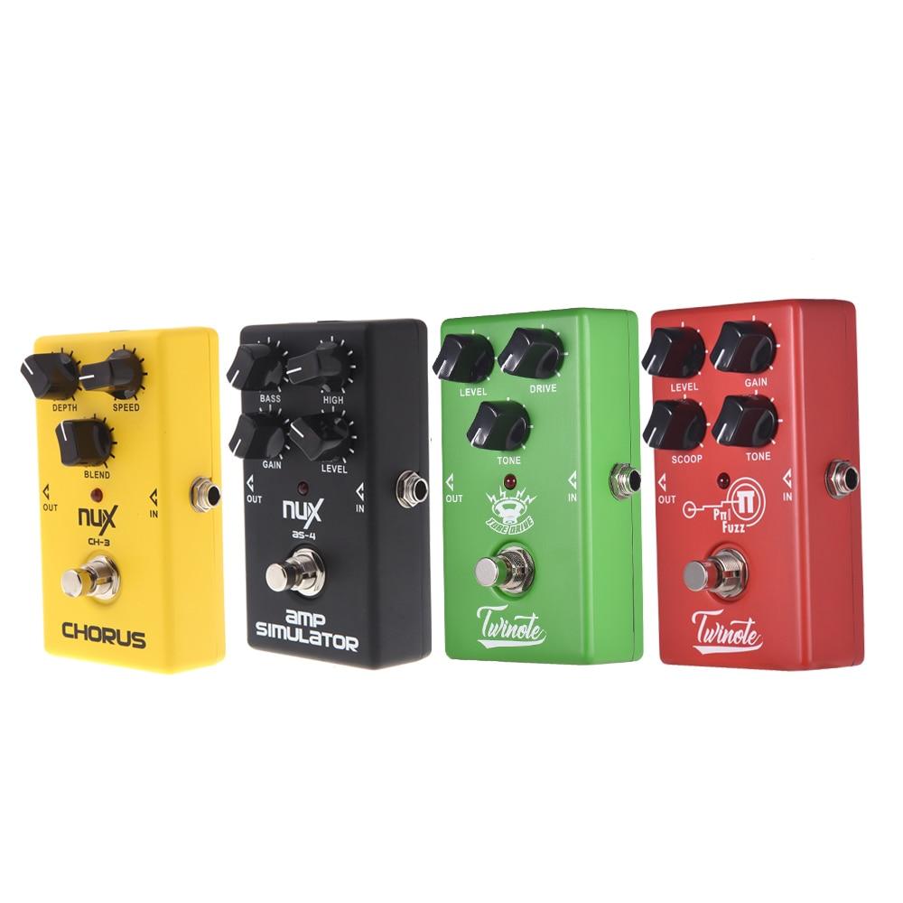 Педаль для гитары Nux, 4 эффекта, хор, звуковой экран/овердрайв/высокий коэффициент усиления/симулятор, гитарный эффект, педаль, аксессуары дл...
