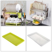 1pcs R-Shaped Chrome Stainless Plate Dish Rack 2 Layer Dish Shelf Plate Cup Bowl Drain Rack Drain Bowl Rack Kitchen Shelf