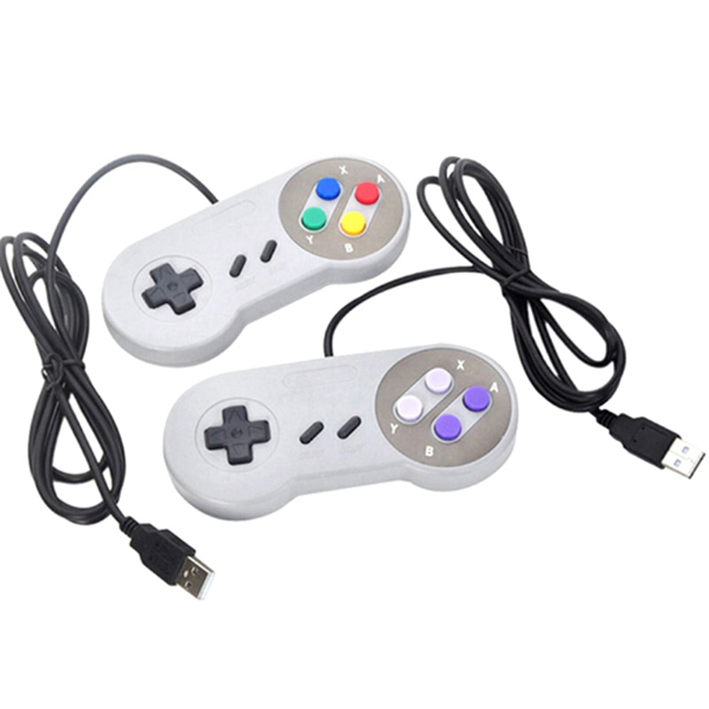 Para Nintendo SNES juego Pad para Windows PC MAC ordenador Control Joystick USB controlador de juego Joystick Gamepad controlador